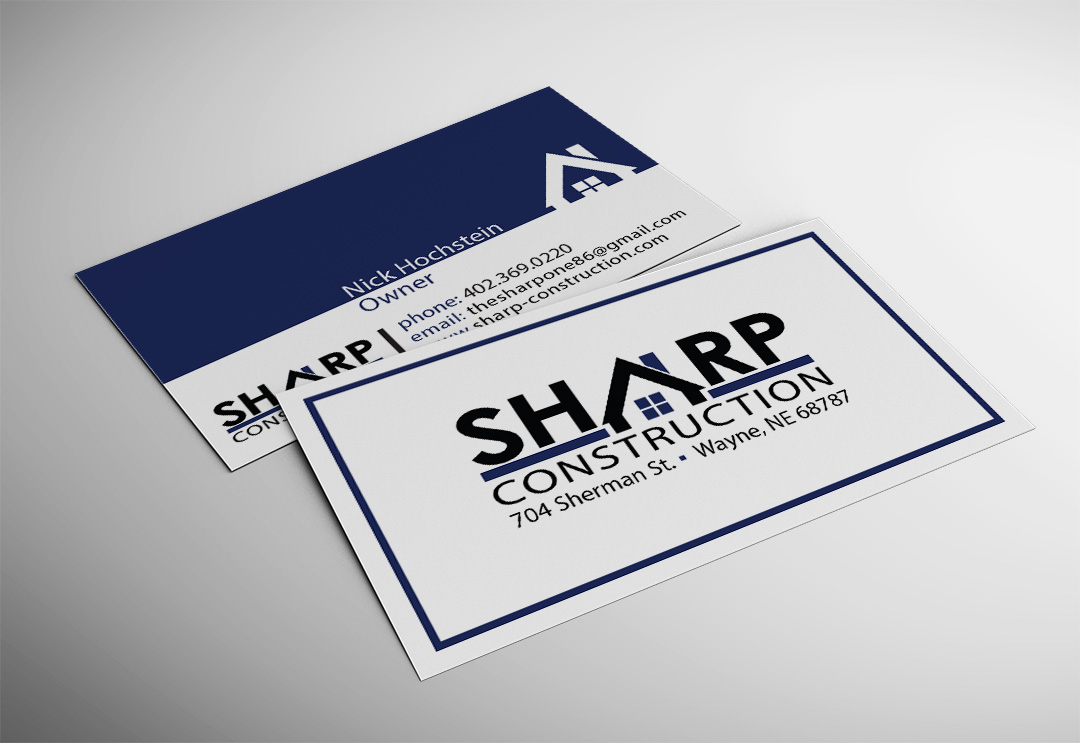 Sharp construction business card networking plus colourmoves