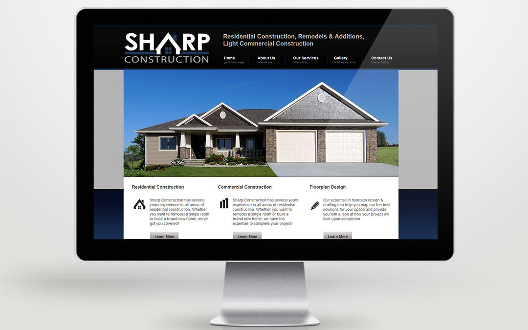 Sharp Construction Website