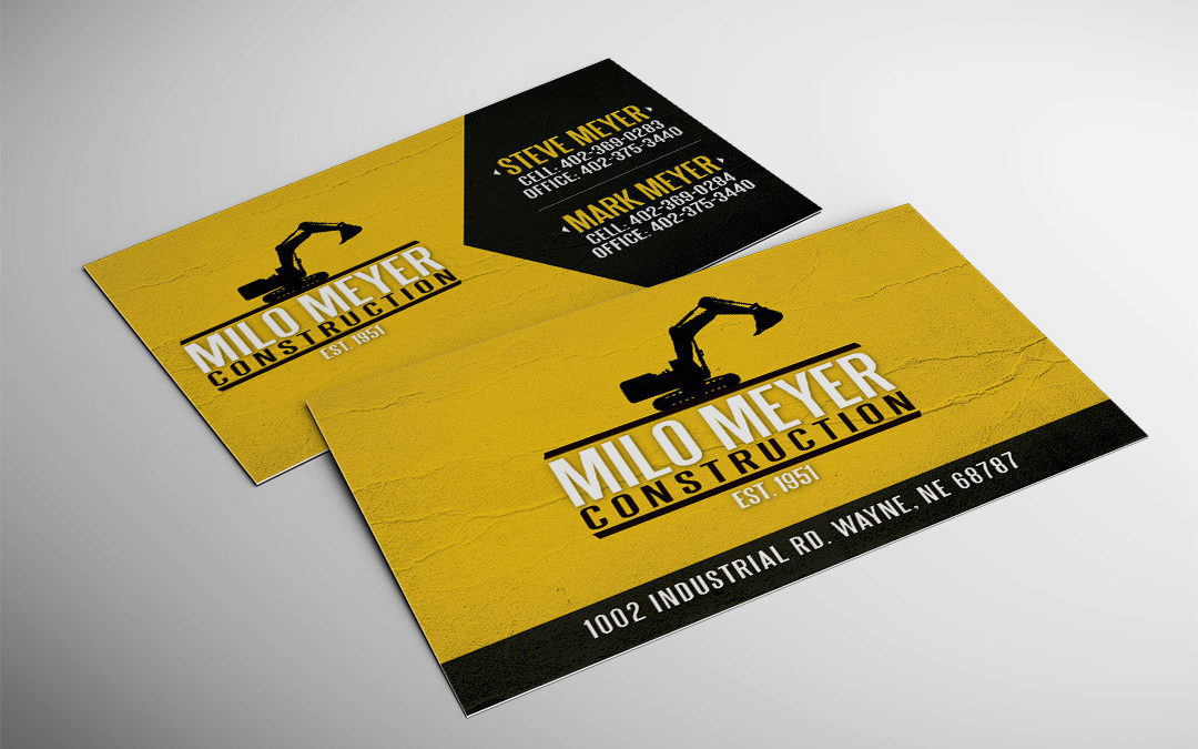 Milo Meyer Construction Business Card