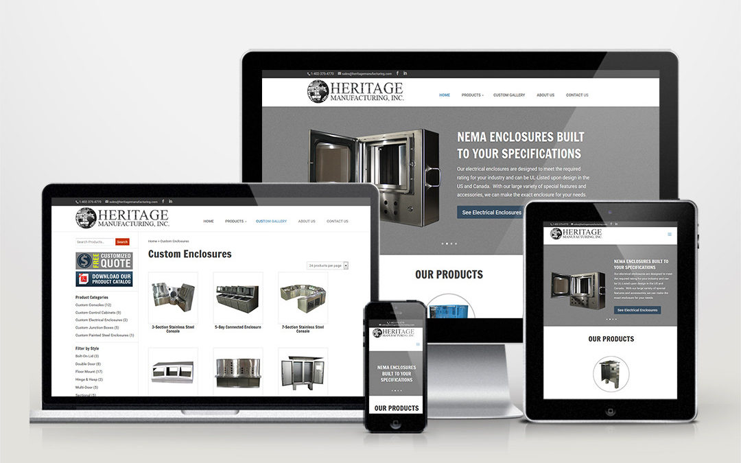 Heritage Manufacturing Website